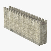 3d model wall section 01