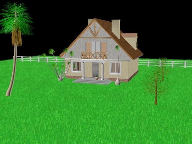 exterior house 3d max