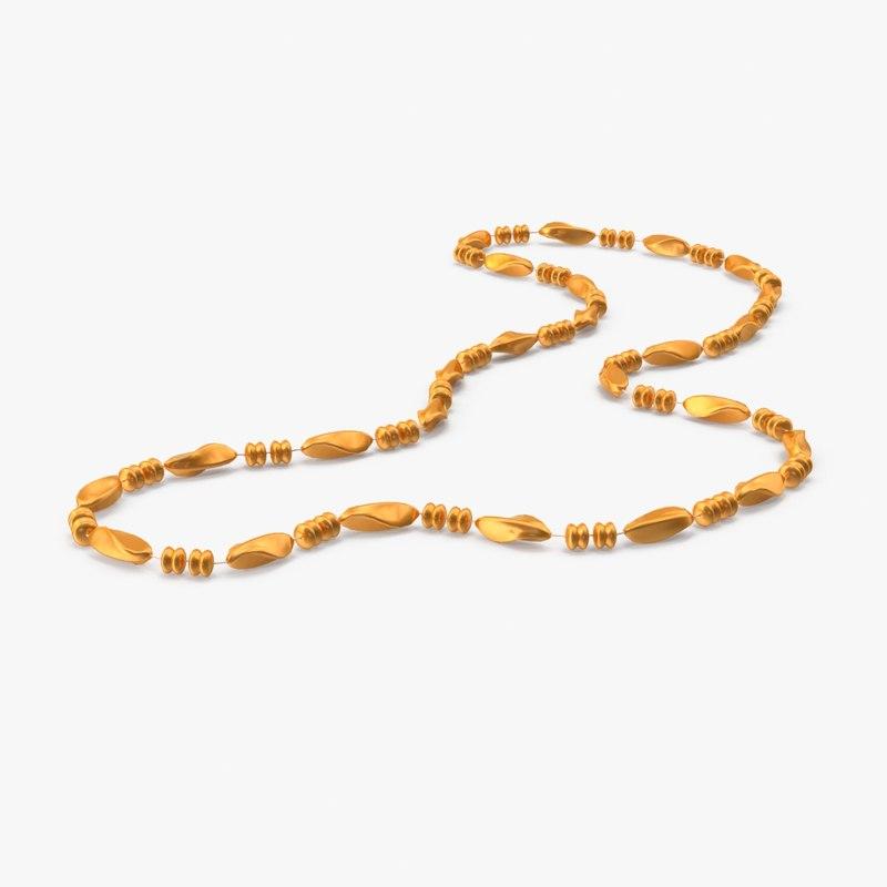 mardi gras beads 01 3d max