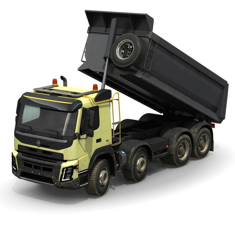 vfx dump truck rigged max