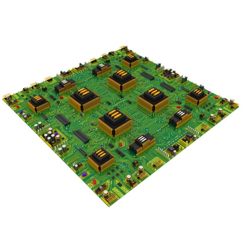 3d model new big circuit board
