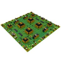 3d model new big circuit board