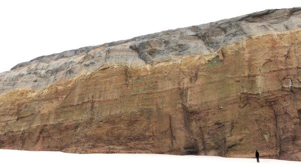 3d model cliff scan