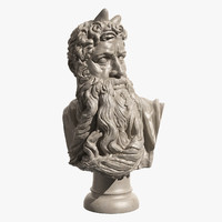 Moses Bust by Michelangelo Buonarroti