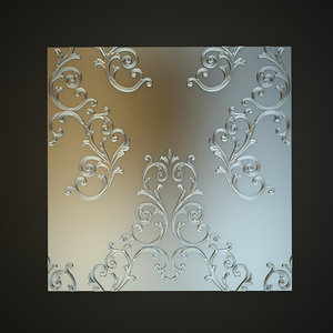 classical decoration wall panels 3d model