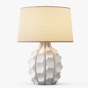3d scalloped ceramic table lamp