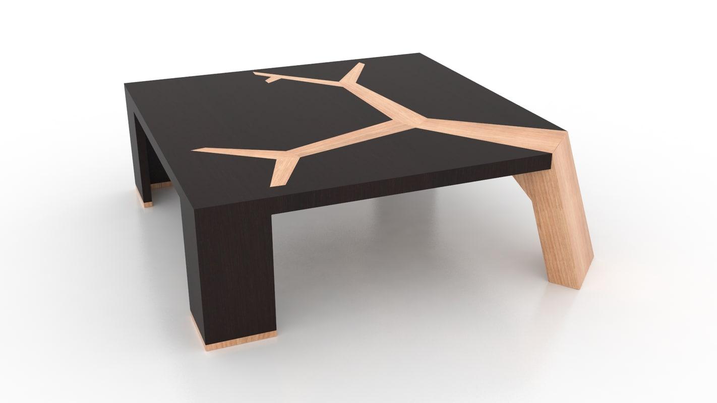 3d coffee table angkor