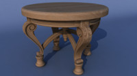 table carved decor obj