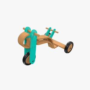 3ds tricycle collada dae