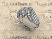 3d jewellery ring 14k