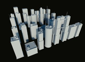 pack buildings cities 3ds