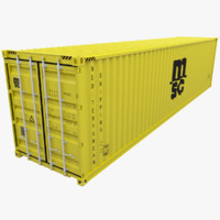 3d mediterranean shipping container msc model