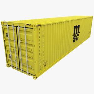 mediterranean shipping container msc 3d obj