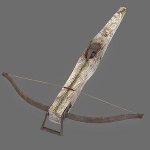 obj old medieval crossbow