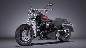 3d model harley-davidson fatbob 2016