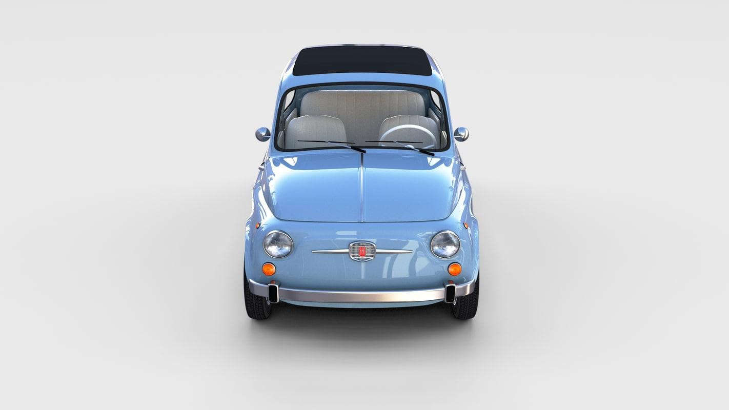 3d model 1957 fiat 500 nuova