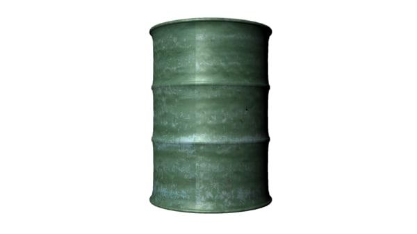 free obj model metal barrel