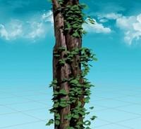 3d rotten pine tree model