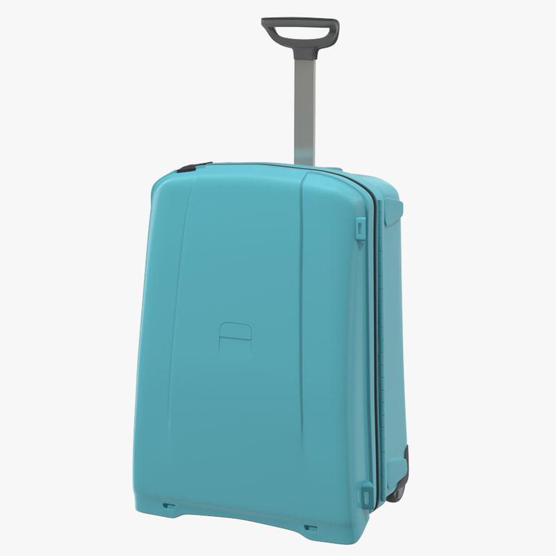 suitcase blue generic 3d model