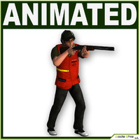 Male Skeet Shooter CG