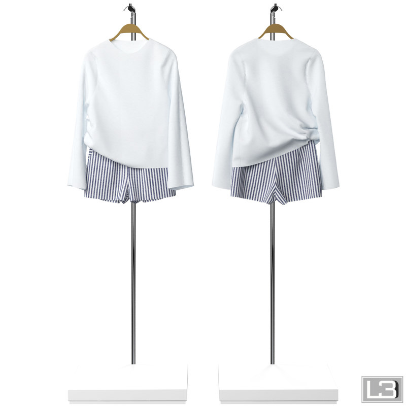 3d model woman clothes hanger