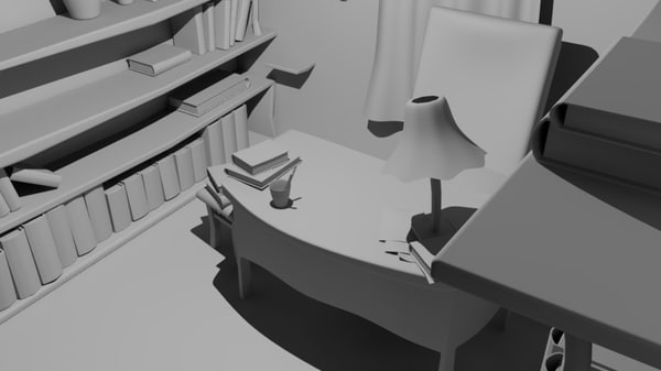 3d messy room