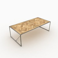 industrial dining table 3d model