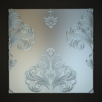 3d classical decoration wall panels model