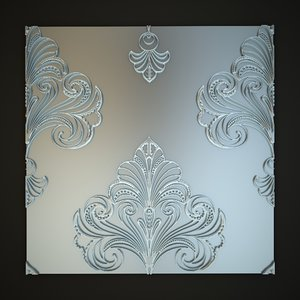 3d classical decoration wall panels model