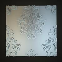 3d classical decoration interior wall model