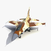 Fighter F-16 Fighting Falcon Israel 3D Model