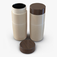 travel mug yellow 3d model