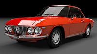 3d lancia coupe fulvia model