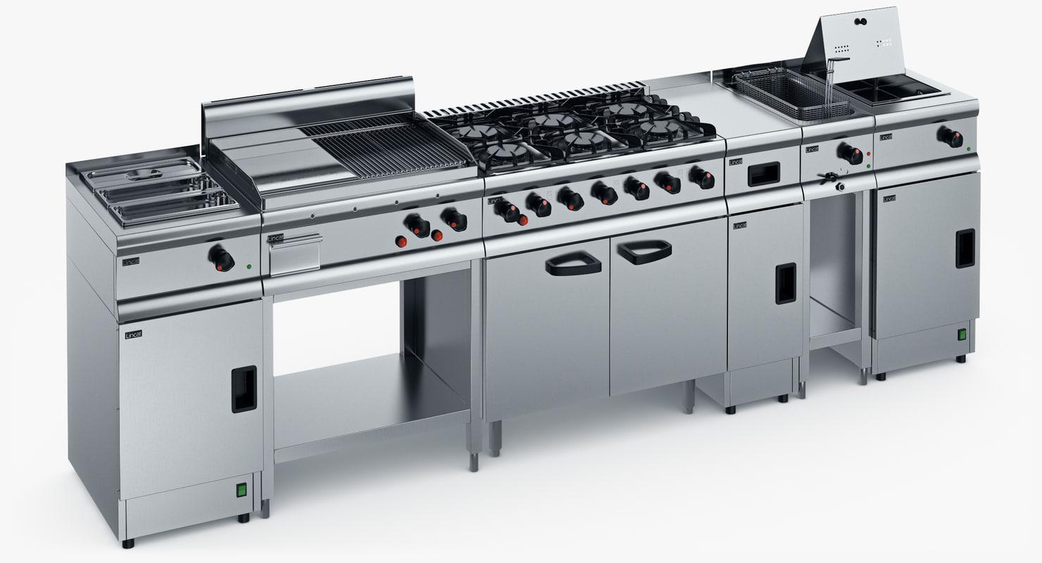 3d model kitchen equipment lincat