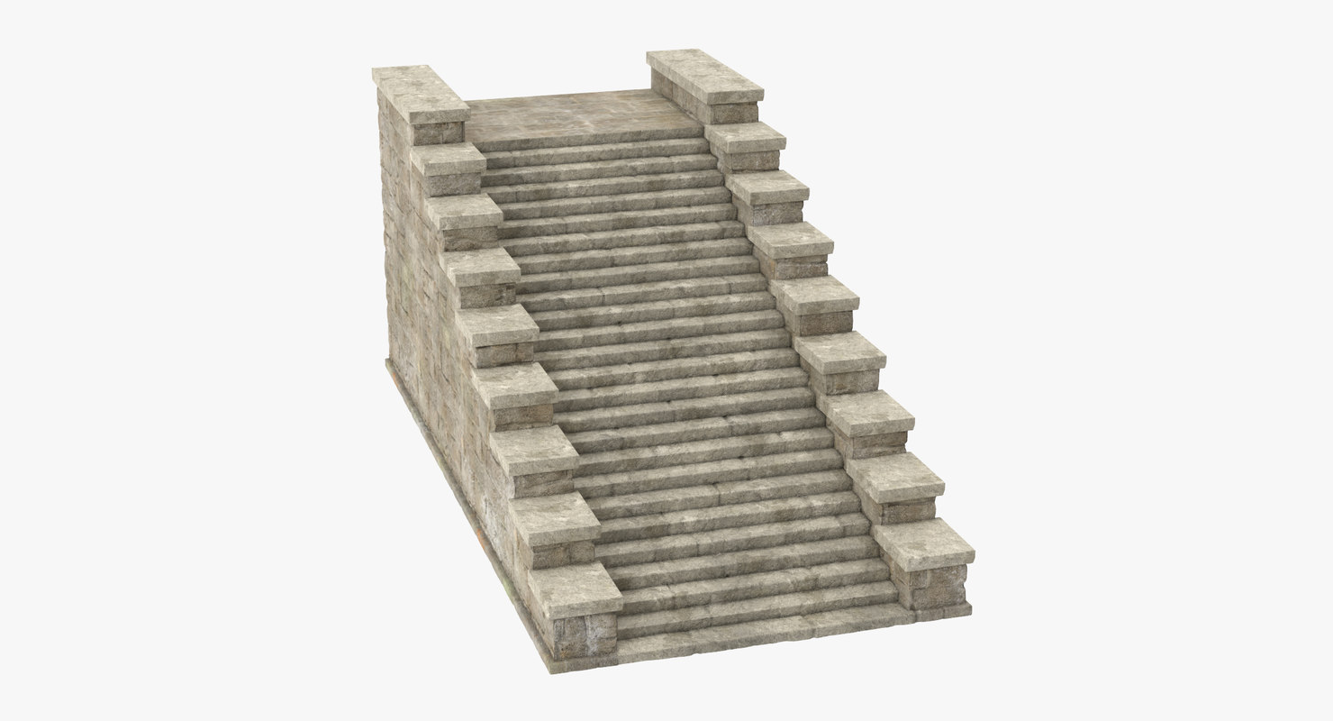 3d castle stairs 01