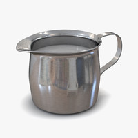 Pitcher Creamer Steel 3D Model
