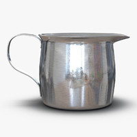 pitcher creamer steel 2 3d max