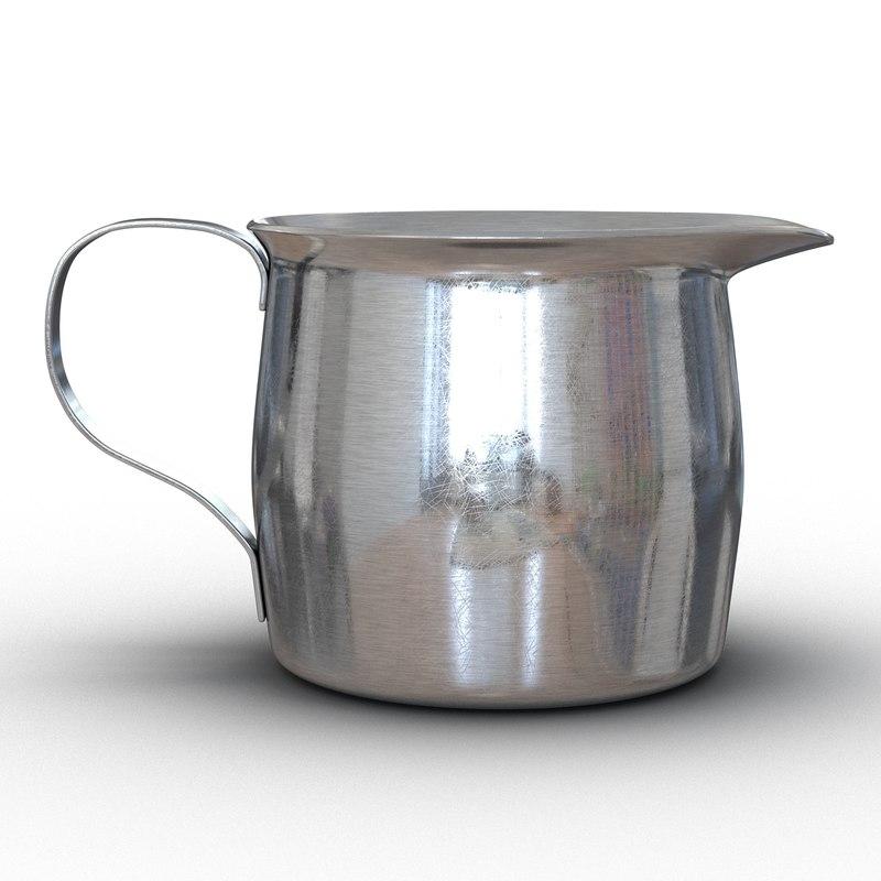 pitcher creamer steel 2 3d max