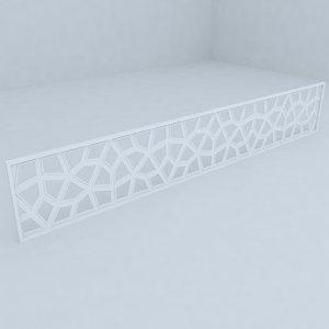 fence railing 3d ma