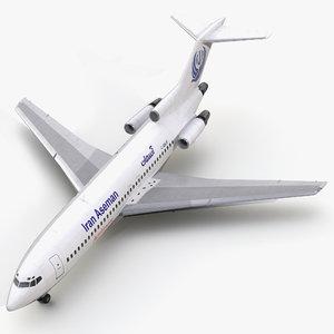 boeing 727-100 iran aseman 3d 3ds