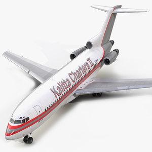 boeing 727-100 kalitta air 3ds