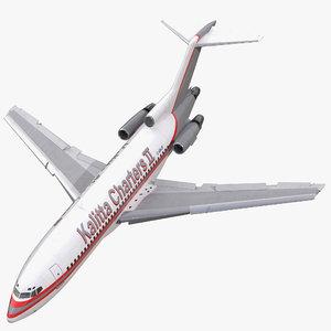 3d model boeing 727 100 kalitta