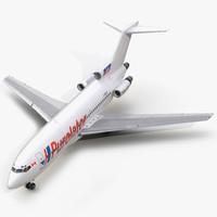 boeing 727-100 kelowna 3d model
