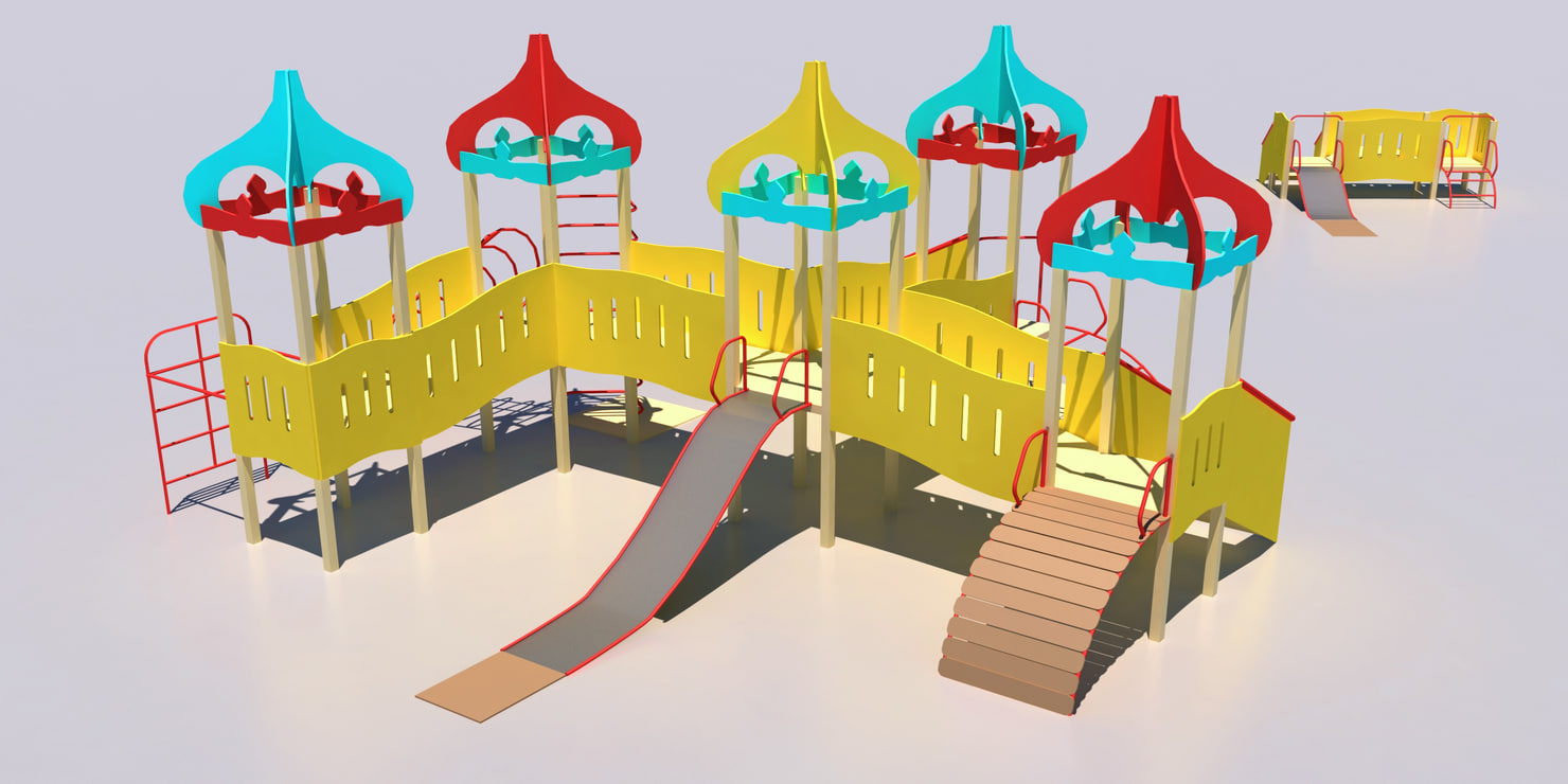 playground russian style 3d max