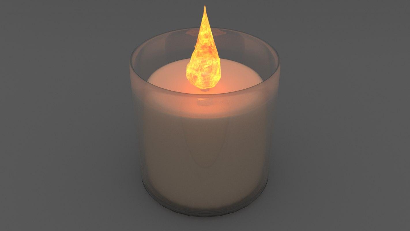 3d model votive candle glass