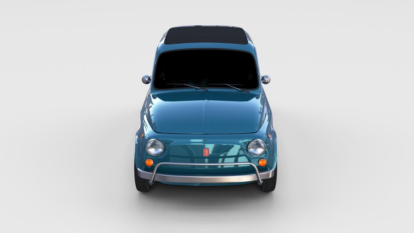 3d model 1968 fiat 500l luxe
