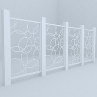 3d model of fence railing