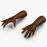african man hands pose 3ds