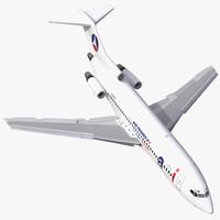 3d boeing 727-100 air france