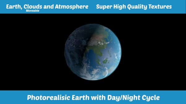3d earth realistic photorealistic model